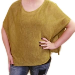 Eileen Fisher》Army Green Light Wool Poncho